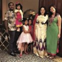 Mas Russell Montana With Entire Host Family At Celebration