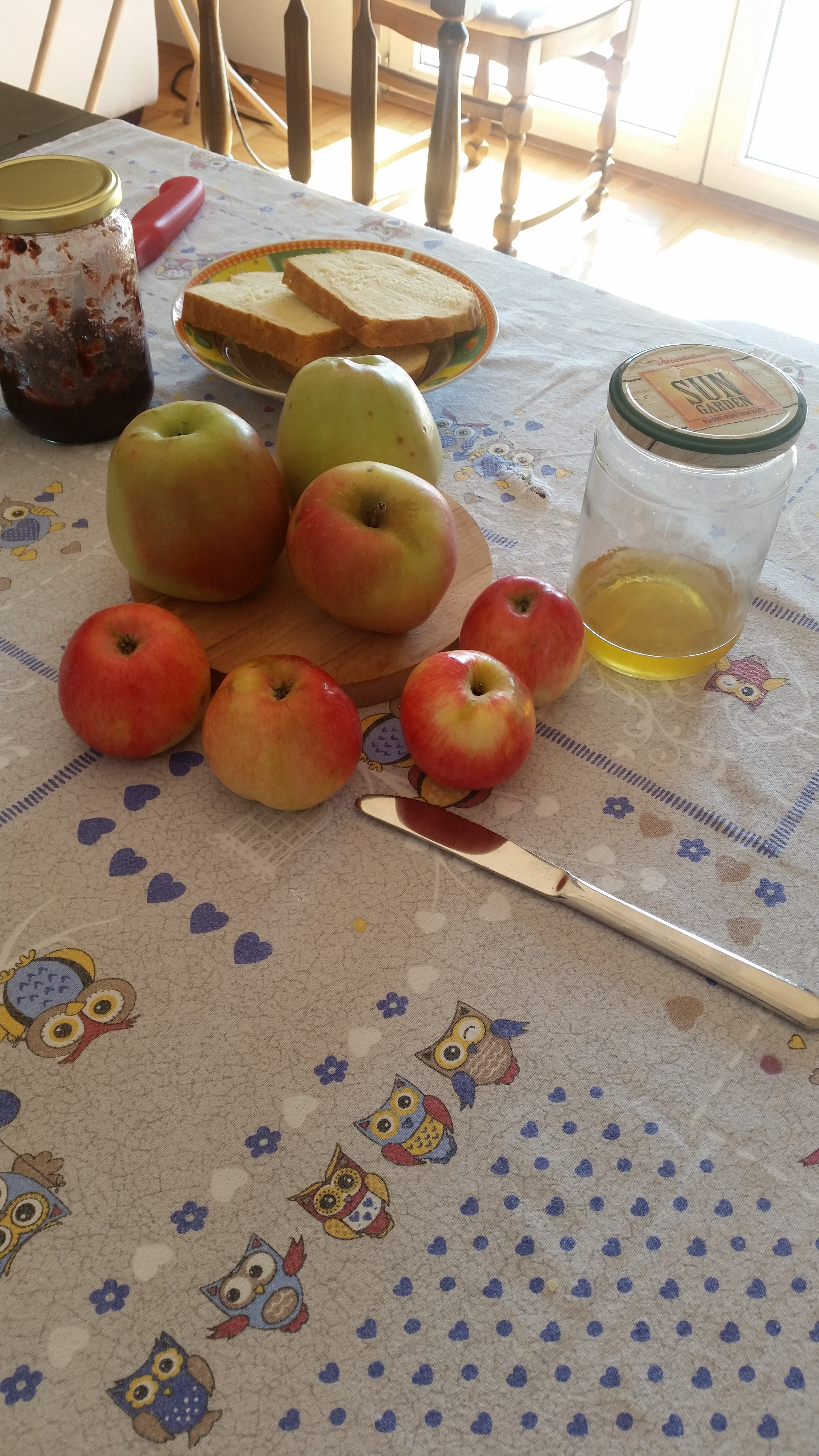 Apples And Honey On The Breakfast Table