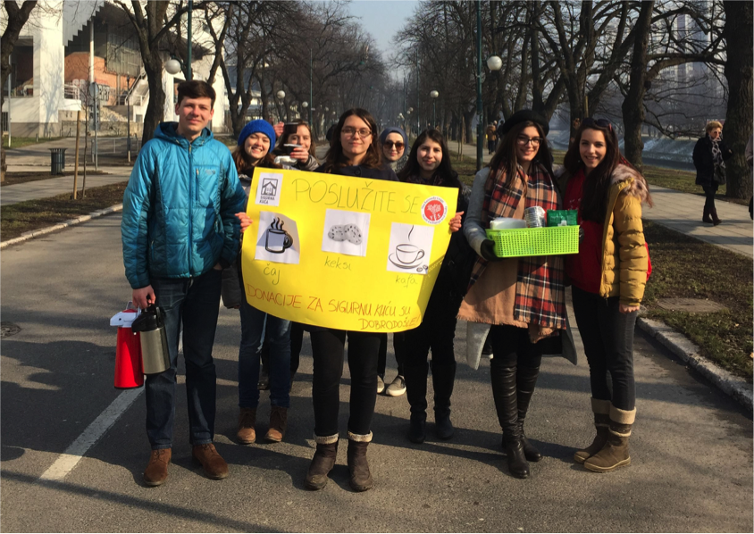 Fundraising  Activity For The  Safe  House In  Sarajevo