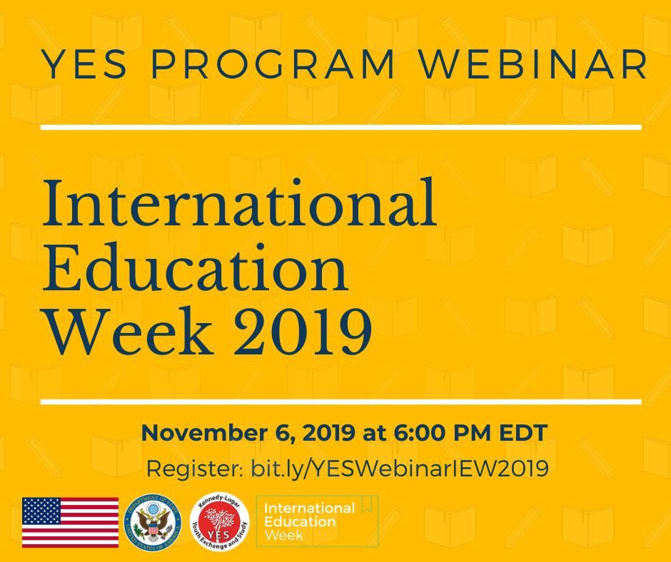 International Education Week Webinar 2019