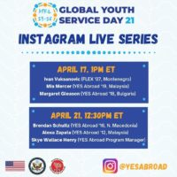Global Youth Service Day Instagram Live Interviews
