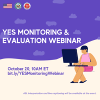YES Monitoring and Evaluation Webinar