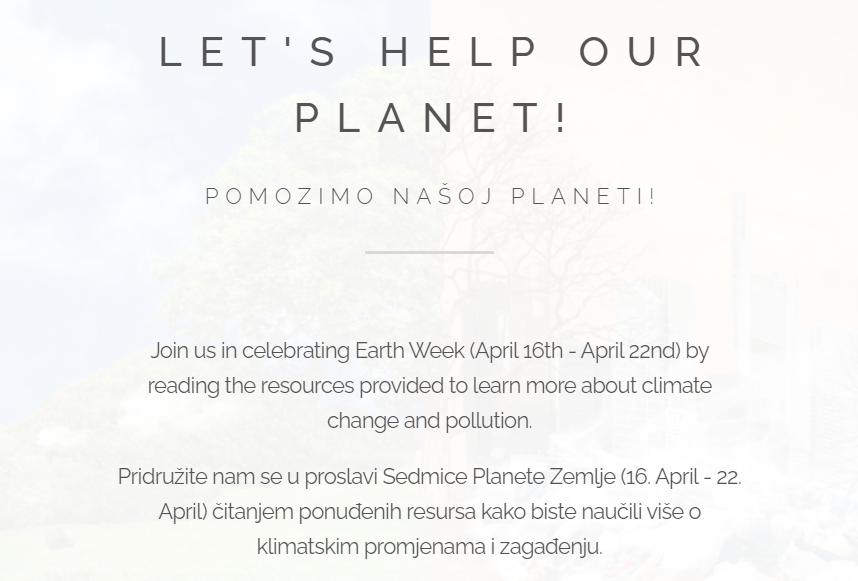 Lets Help Our Planet Website 2